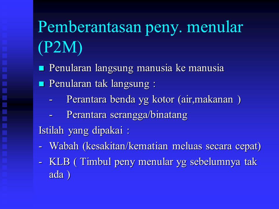Pemberantasan peny. menular (P2M)