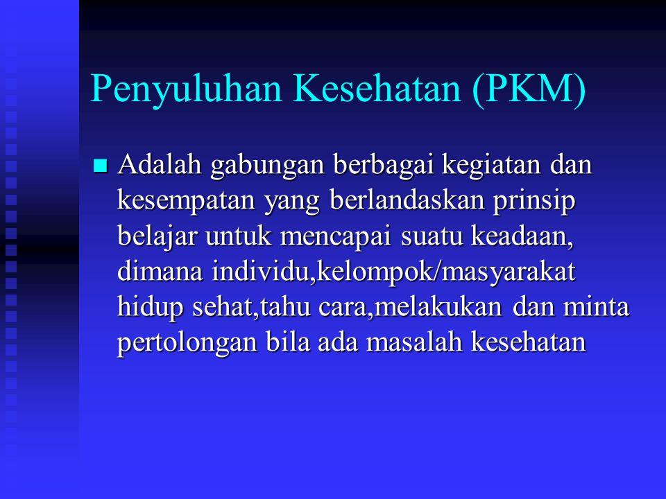 Penyuluhan Kesehatan (PKM)