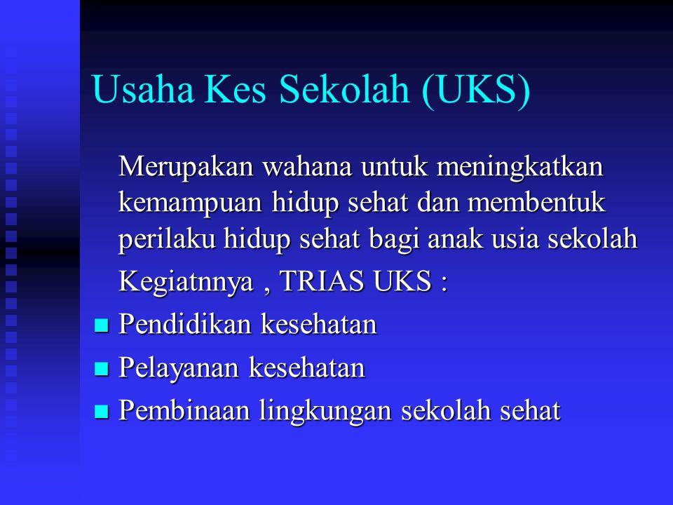 Usaha Kes Sekolah (UKS)