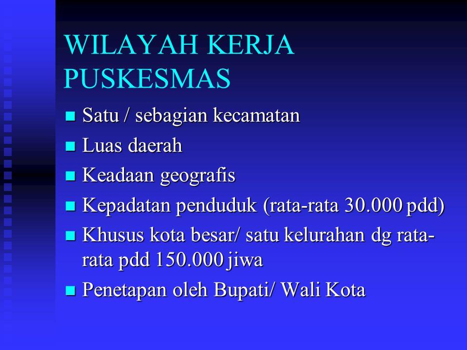 WILAYAH KERJA PUSKESMAS