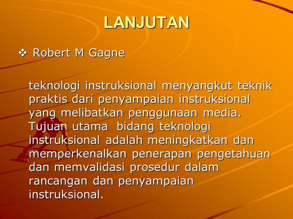 LANJUTAN Robert M Gagne