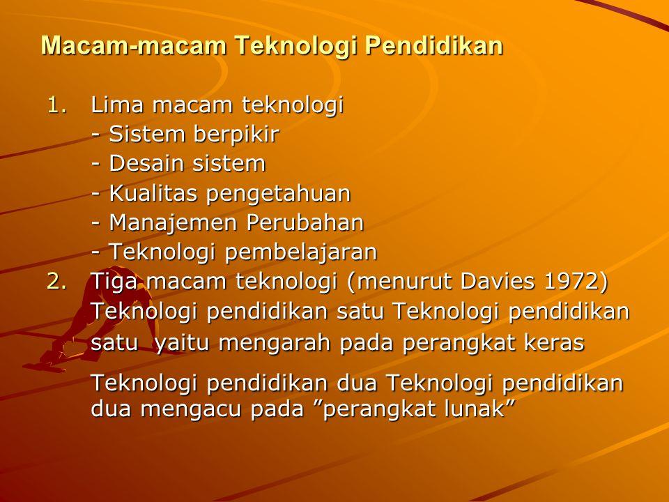 Macam-macam Teknologi Pendidikan