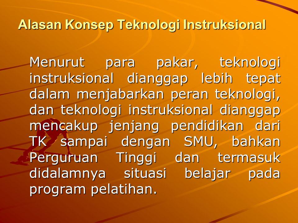 Alasan Konsep Teknologi Instruksional