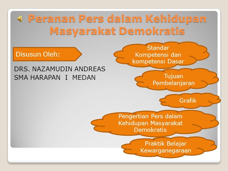 Peranan Pers dalam Kehidupan Masyarakat Demokratis