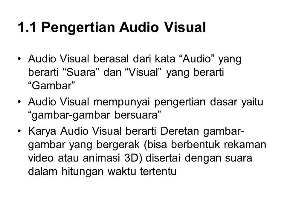 1.1 Pengertian Audio Visual