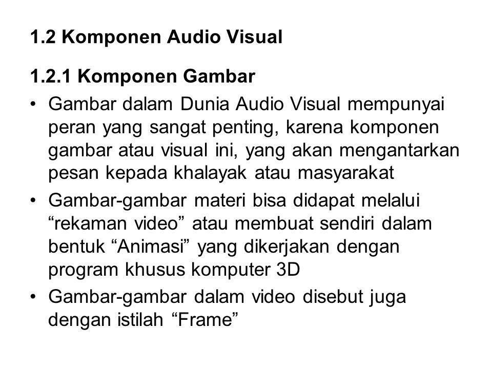 1.2 Komponen Audio Visual 1.2.1 Komponen Gambar.