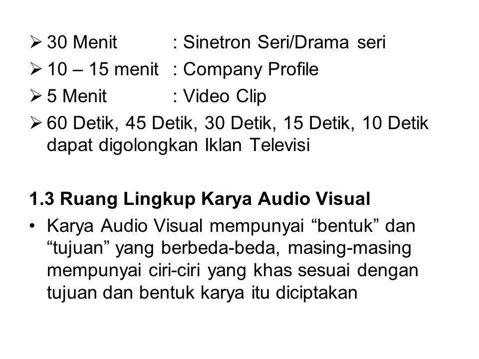 30 Menit : Sinetron Seri/Drama seri
