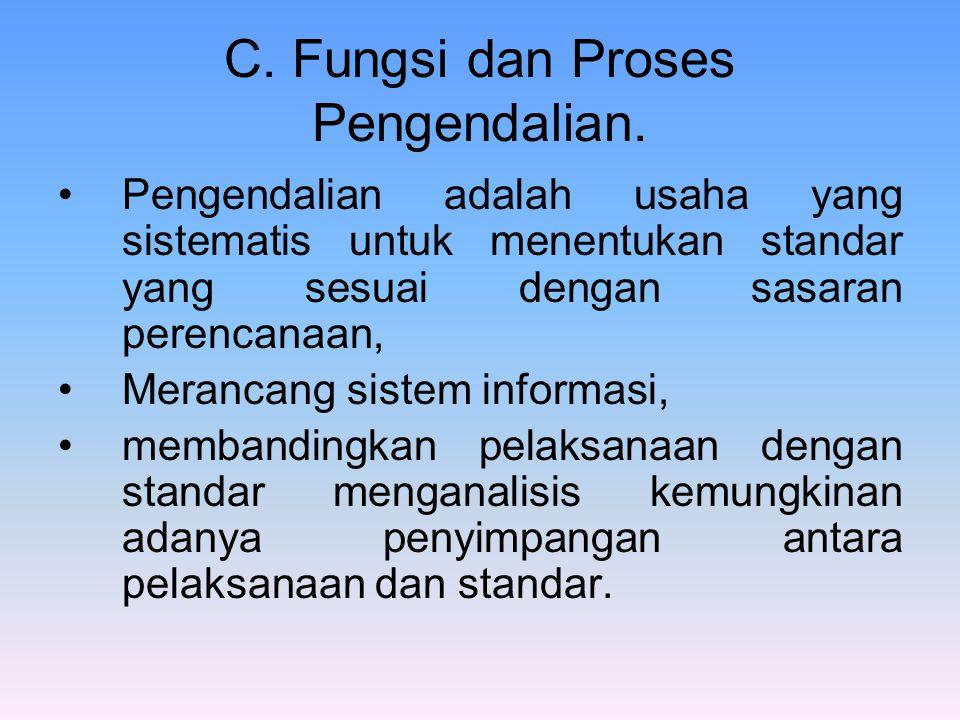 C. Fungsi dan Proses Pengendalian.