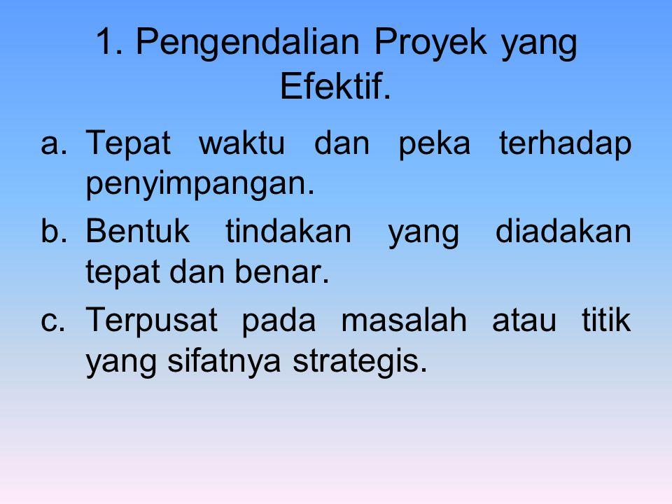 1. Pengendalian Proyek yang Efektif.