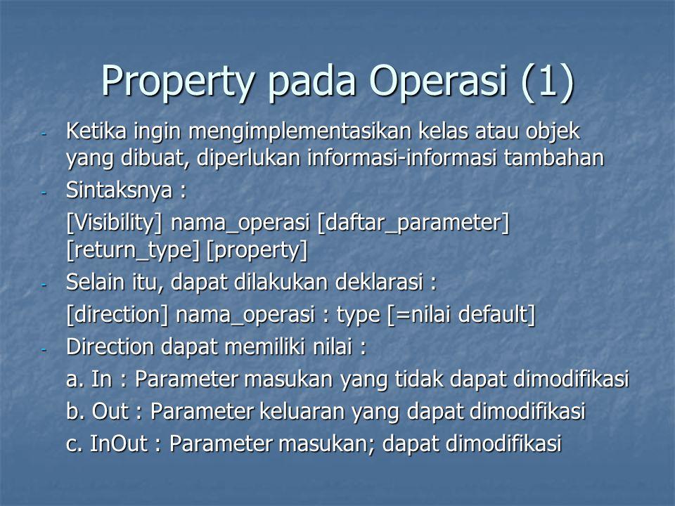 Property pada Operasi (1)