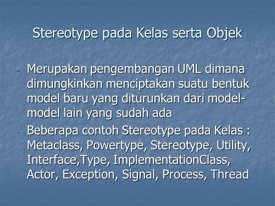 Stereotype pada Kelas serta Objek