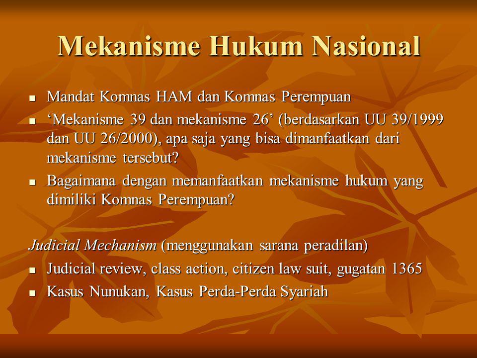 Mekanisme Hukum Nasional