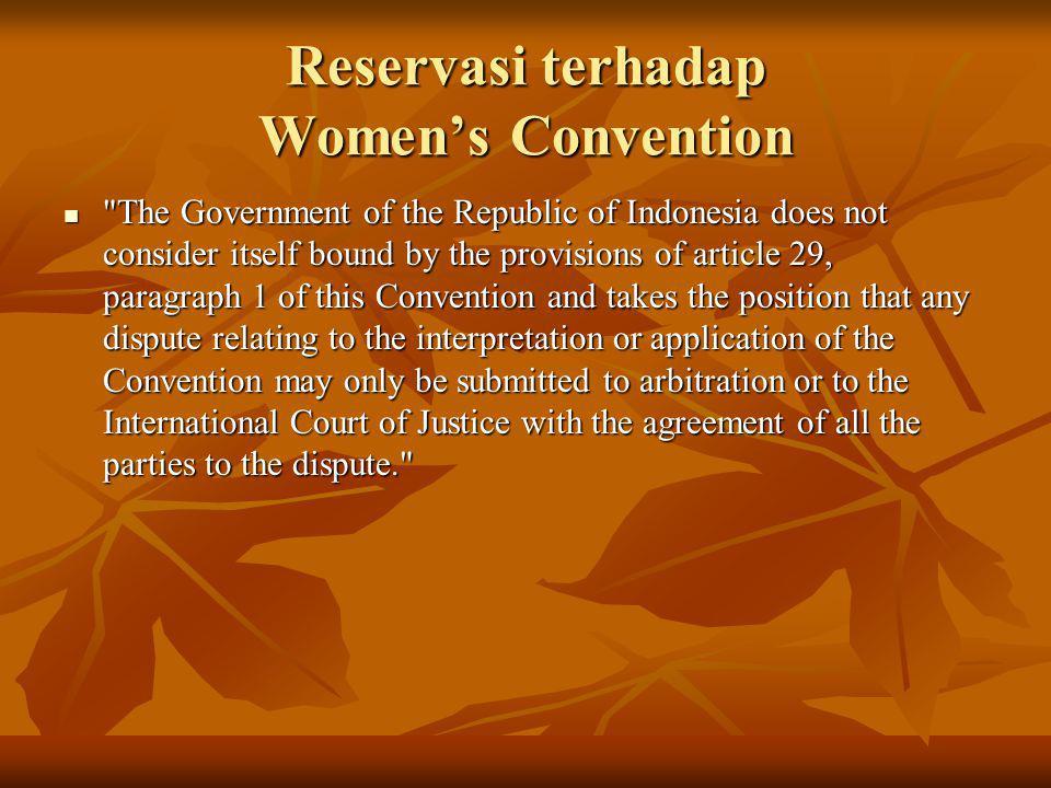 Reservasi terhadap Women's Convention