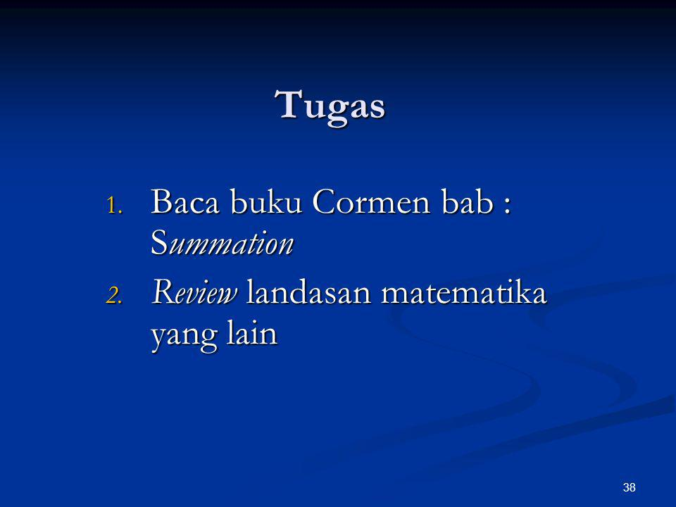 Tugas Baca buku Cormen bab : Summation