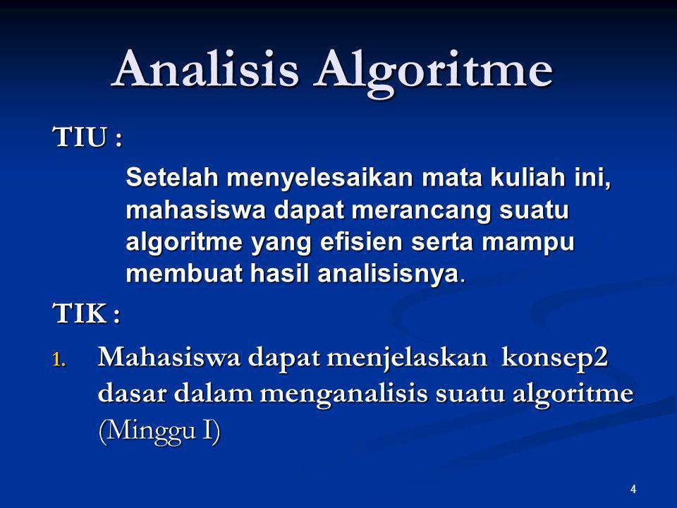 Analisis Algoritme TIU : TIK :