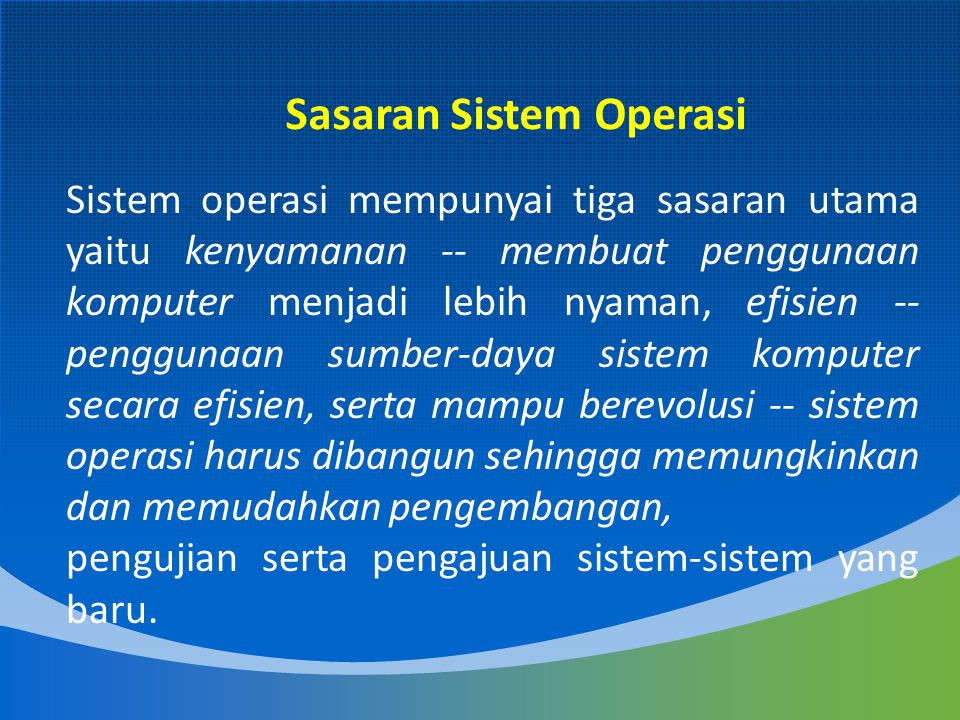 Sasaran Sistem Operasi