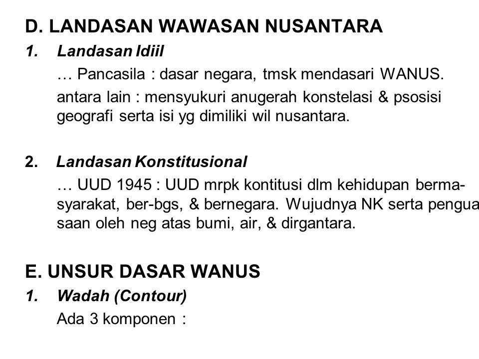 D. LANDASAN WAWASAN NUSANTARA