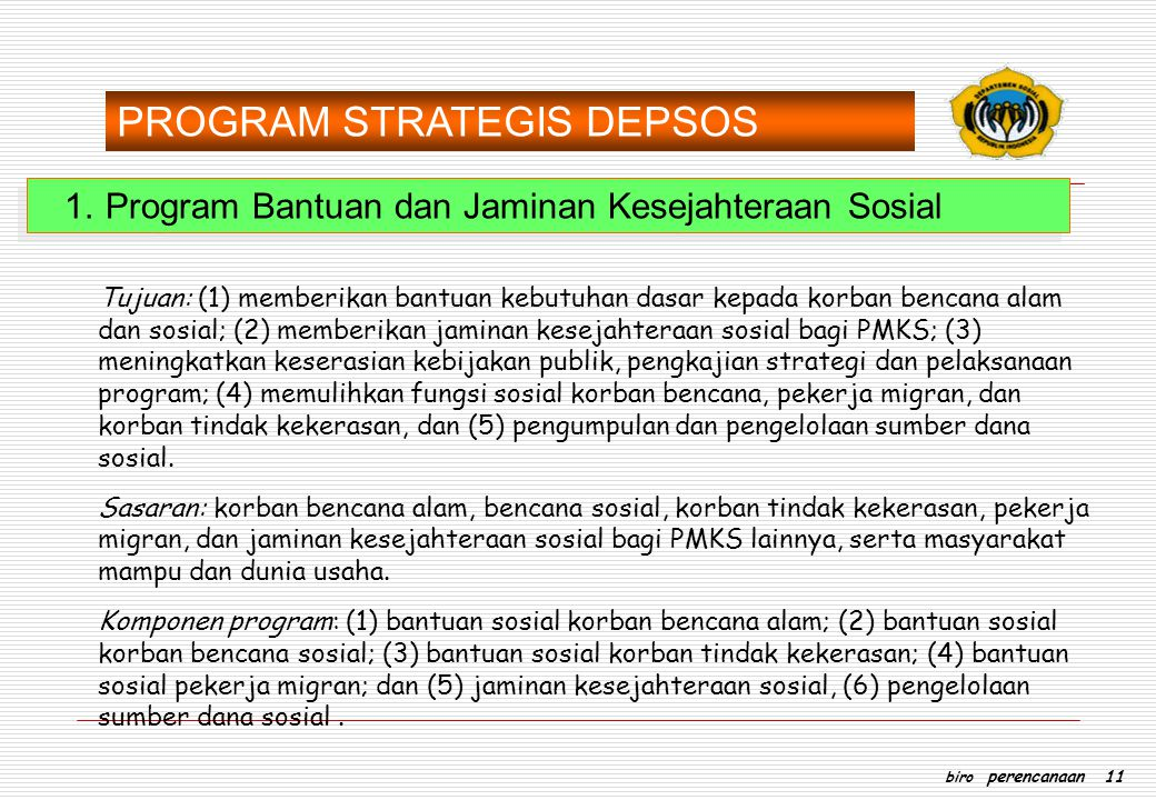 PROGRAM STRATEGIS DEPSOS