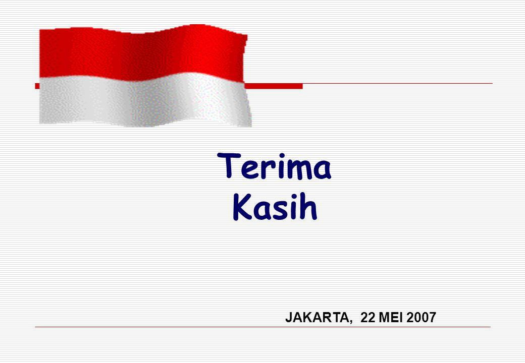 Terima Kasih JAKARTA, 22 MEI 2007
