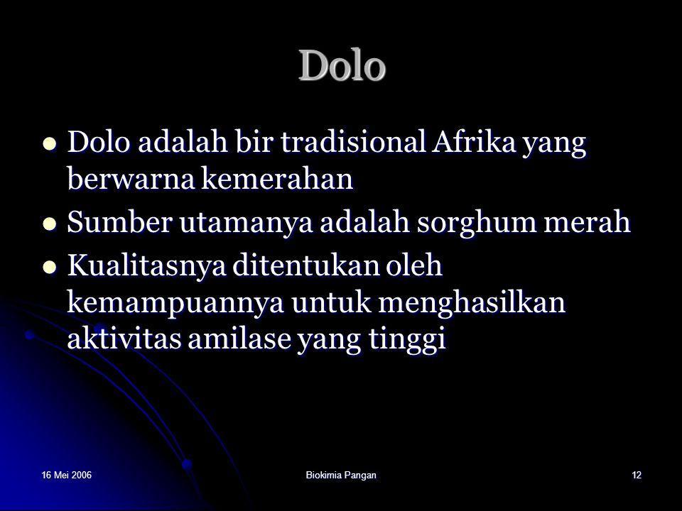 Dolo Dolo adalah bir tradisional Afrika yang berwarna kemerahan