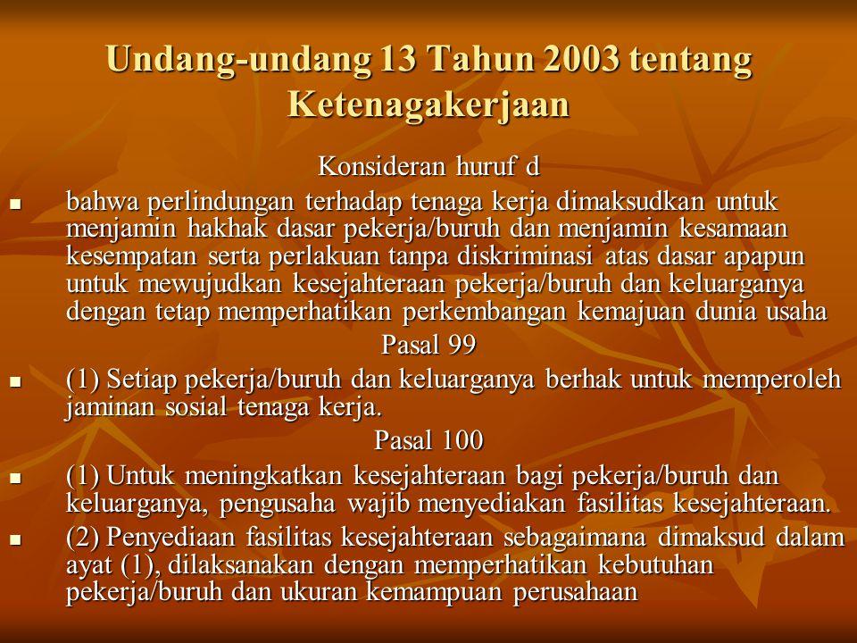 Undang-undang 13 Tahun 2003 tentang Ketenagakerjaan