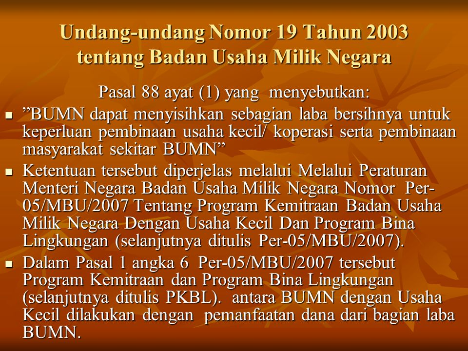 Undang-undang Nomor 19 Tahun 2003 tentang Badan Usaha Milik Negara
