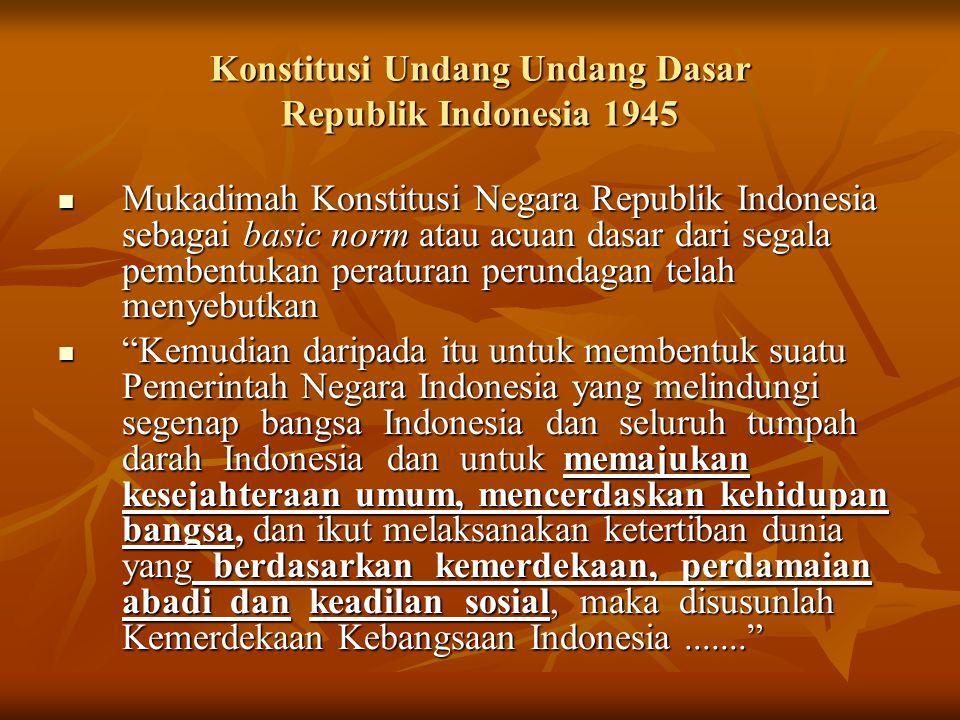 Konstitusi Undang Undang Dasar Republik Indonesia 1945