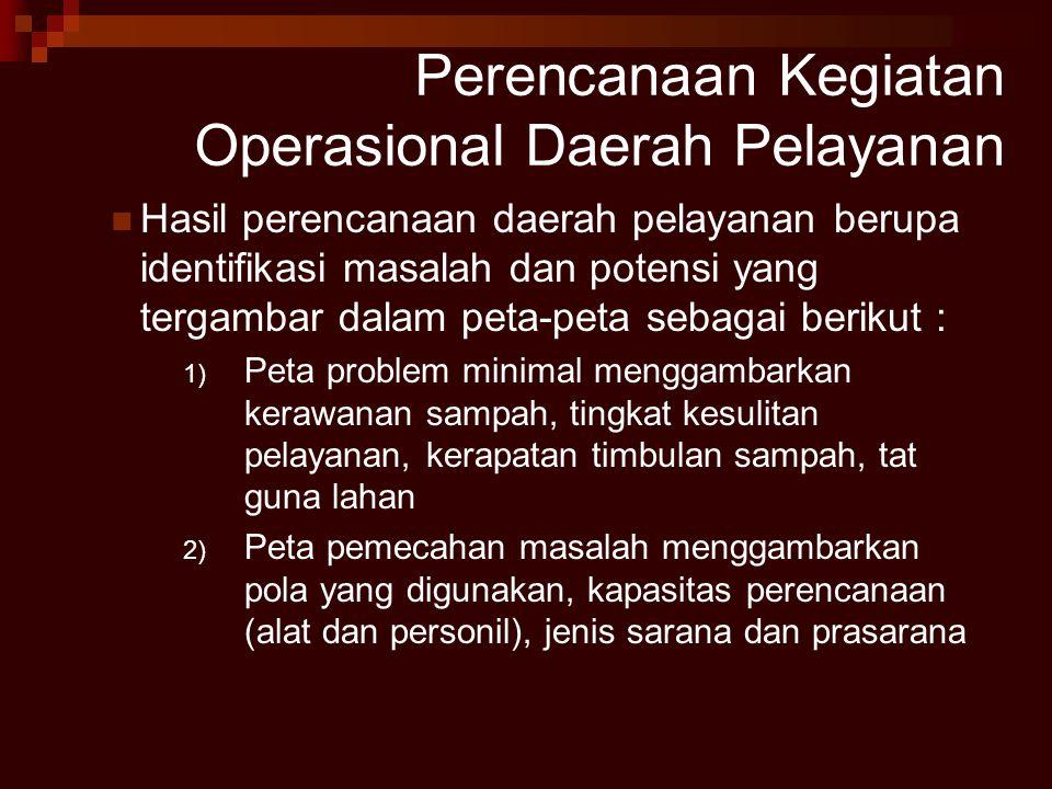 Perencanaan Kegiatan Operasional Daerah Pelayanan