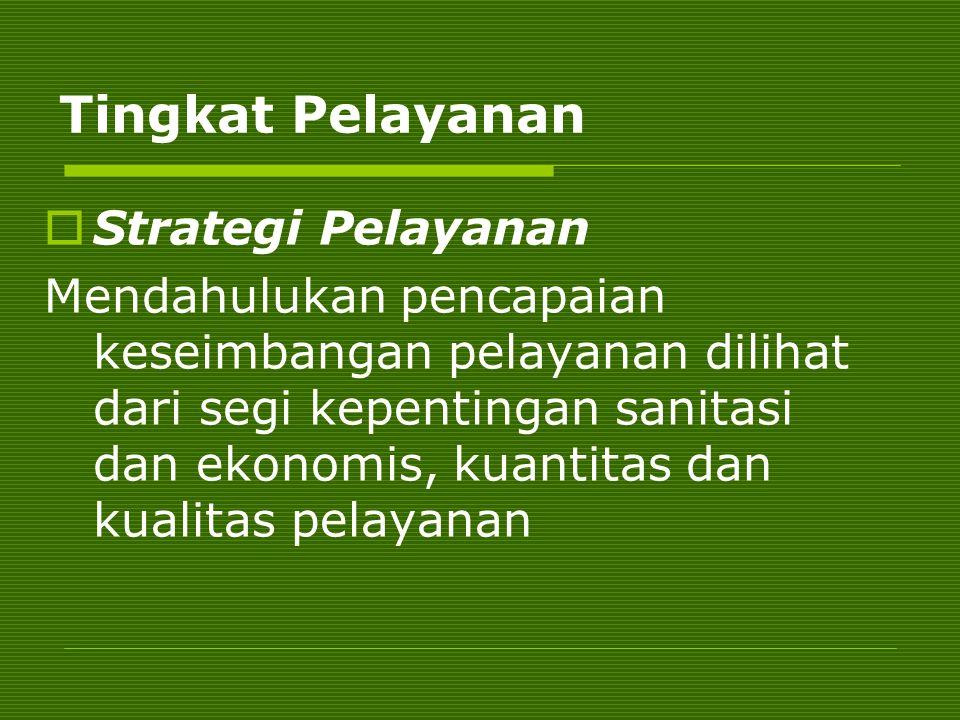 Tingkat Pelayanan Strategi Pelayanan