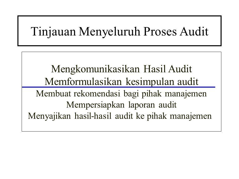Tinjauan Menyeluruh Proses Audit