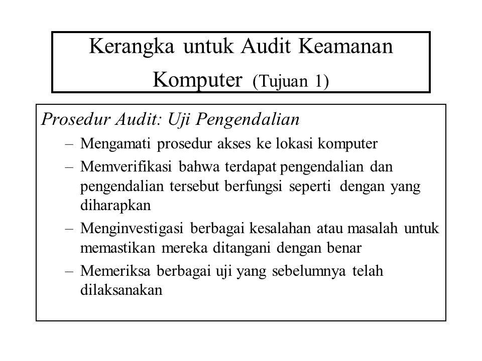 Kerangka untuk Audit Keamanan Komputer (Tujuan 1)