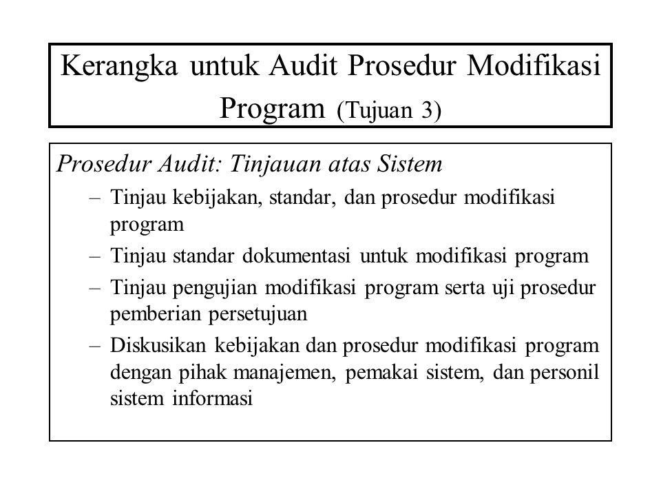 Kerangka untuk Audit Prosedur Modifikasi Program (Tujuan 3)