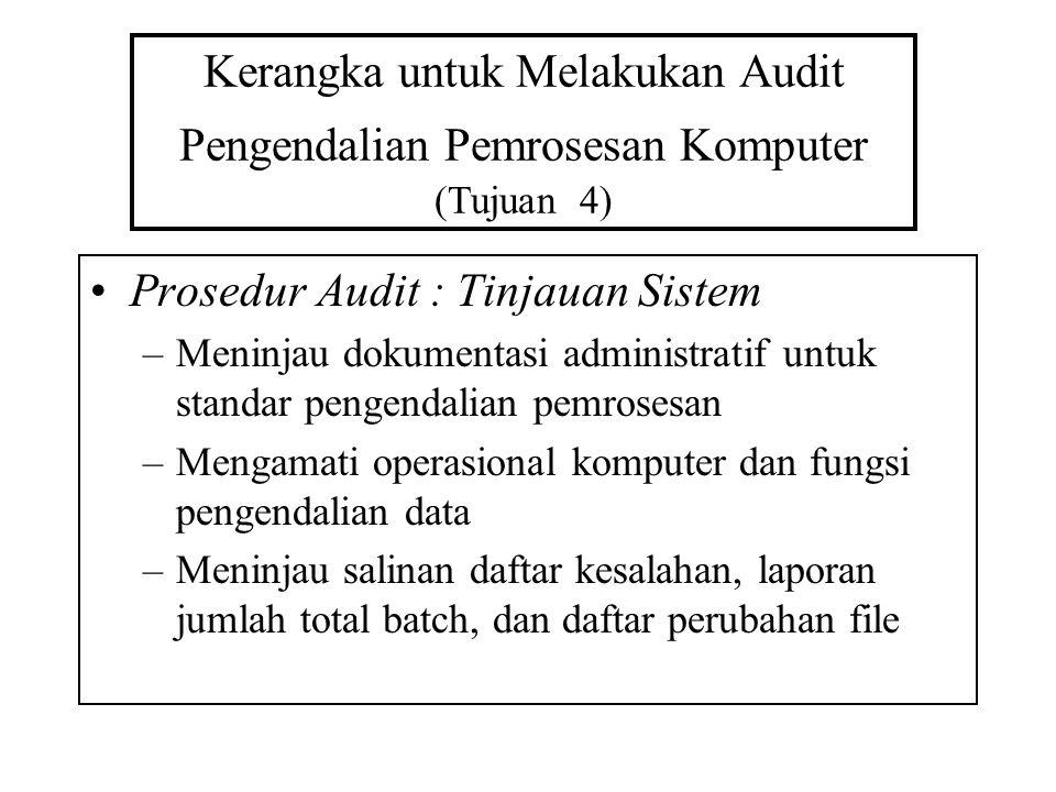 Prosedur Audit : Tinjauan Sistem