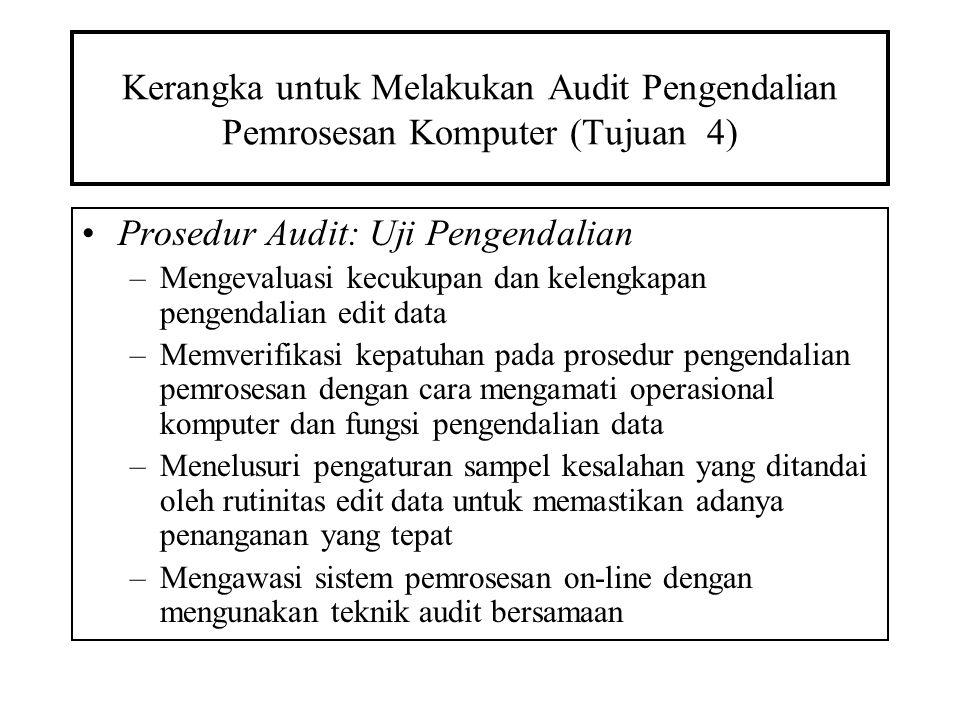 Prosedur Audit: Uji Pengendalian