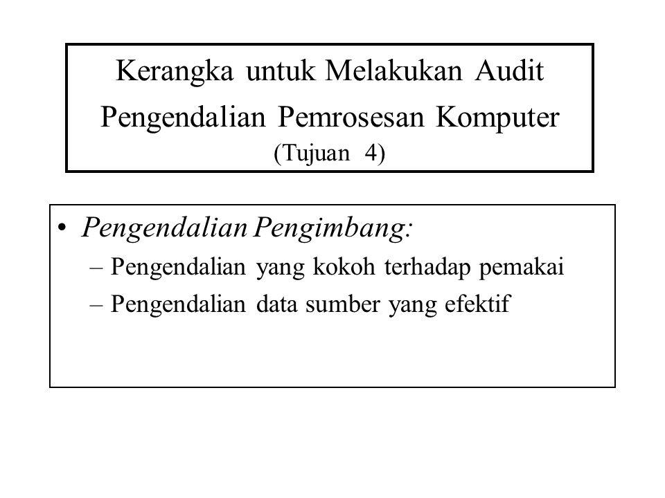 Kerangka untuk Melakukan Audit Pengendalian Pemrosesan Komputer (Tujuan 4)
