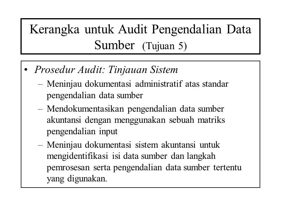 Kerangka untuk Audit Pengendalian Data Sumber (Tujuan 5)