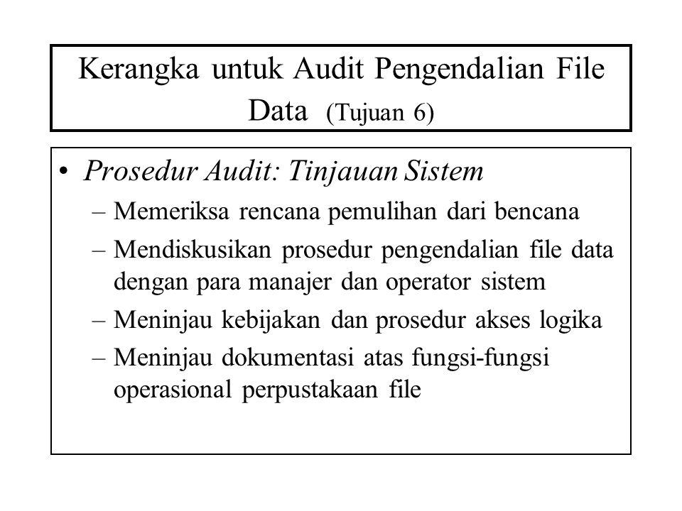 Kerangka untuk Audit Pengendalian File Data (Tujuan 6)