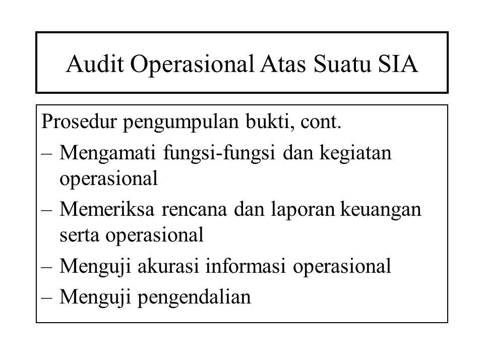Audit Operasional Atas Suatu SIA
