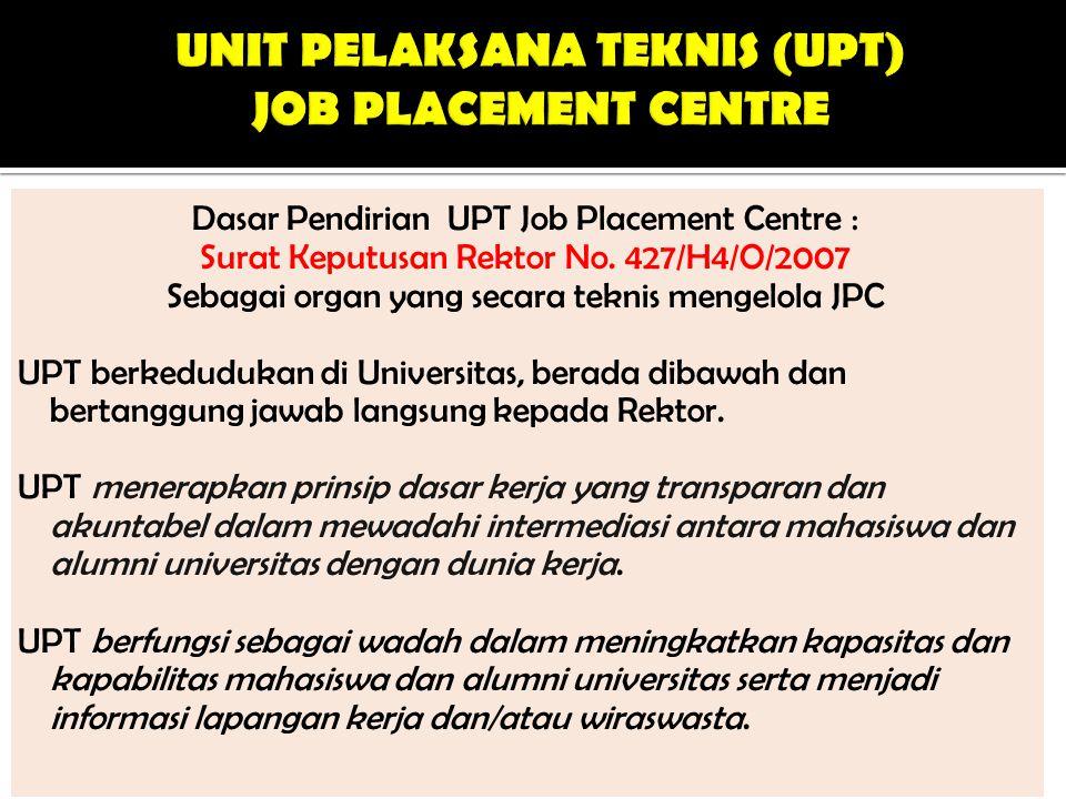 UNIT PELAKSANA TEKNIS (UPT) JOB PLACEMENT CENTRE