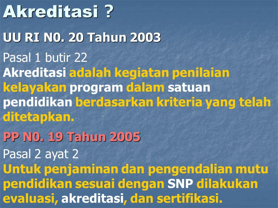 Akreditasi UU RI N0. 20 Tahun 2003