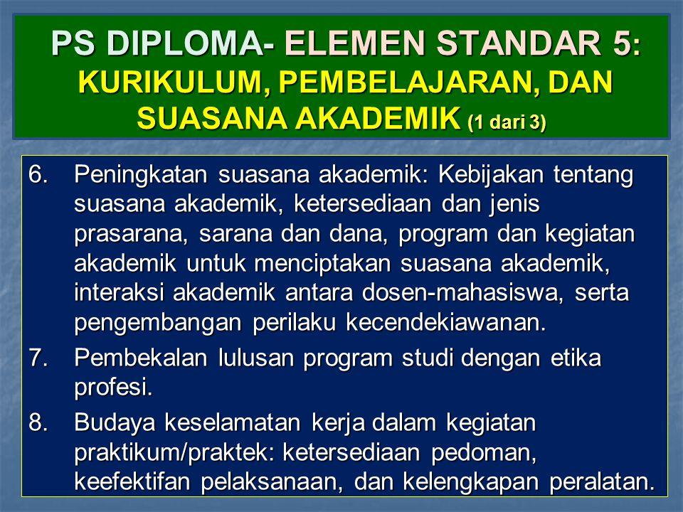 PS DIPLOMA- ELEMEN STANDAR 5: KURIKULUM, PEMBELAJARAN, DAN SUASANA AKADEMIK (1 dari 3)