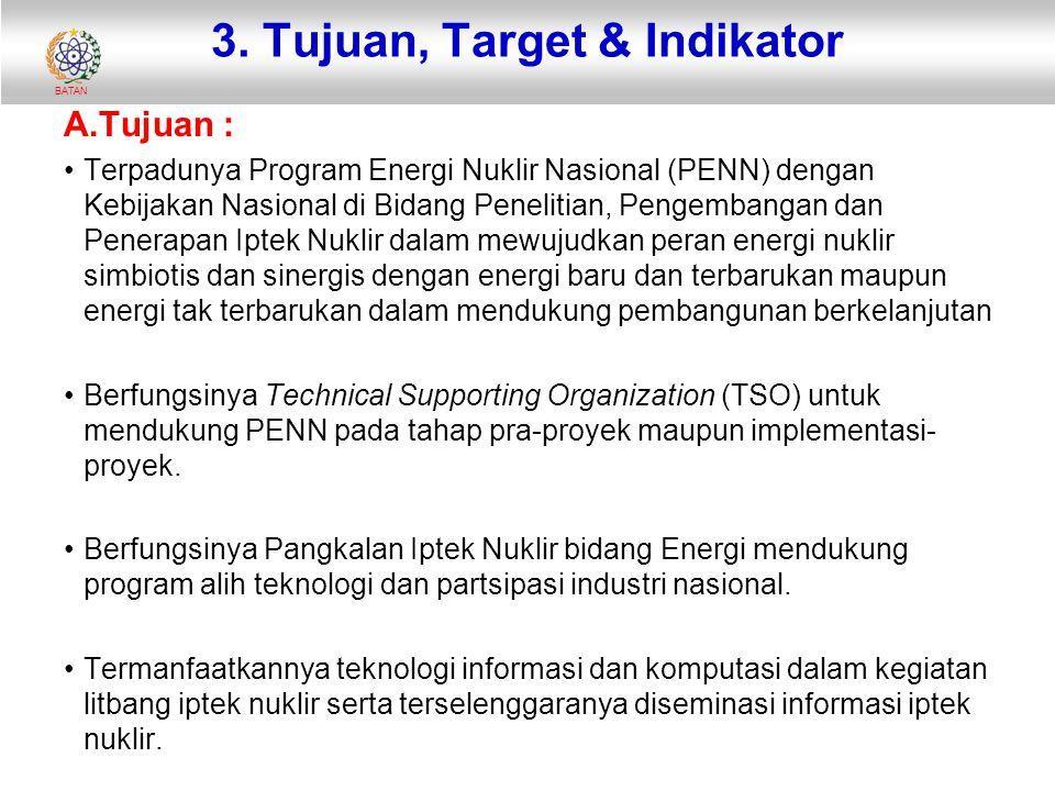 3. Tujuan, Target & Indikator