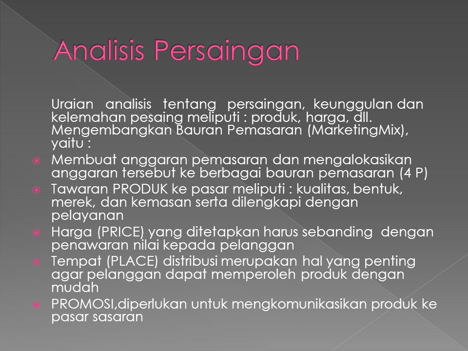 Analisis Persaingan