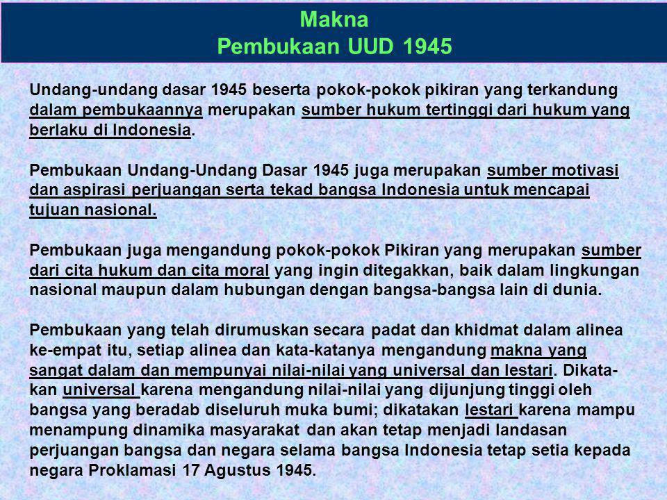 Makna Pembukaan UUD 1945