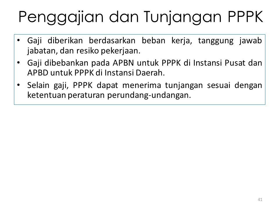 Penggajian dan Tunjangan PPPK