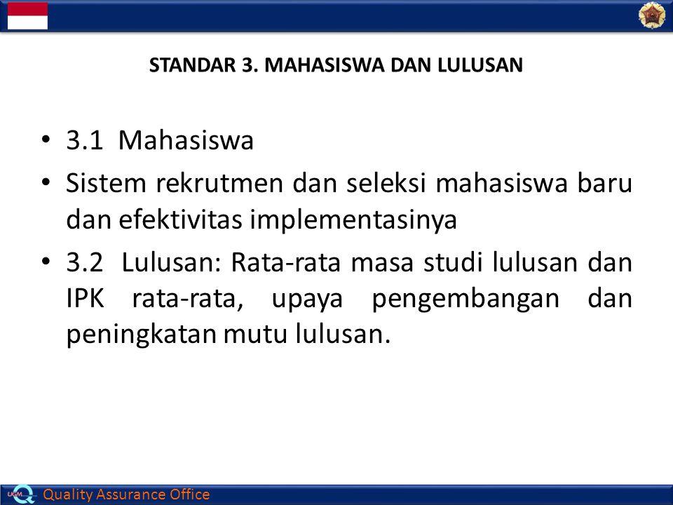 STANDAR 3. MAHASISWA DAN LULUSAN