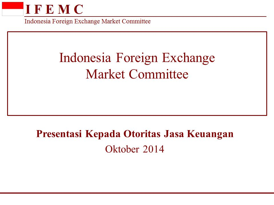 Indonesia Foreign Exchange Market Committee