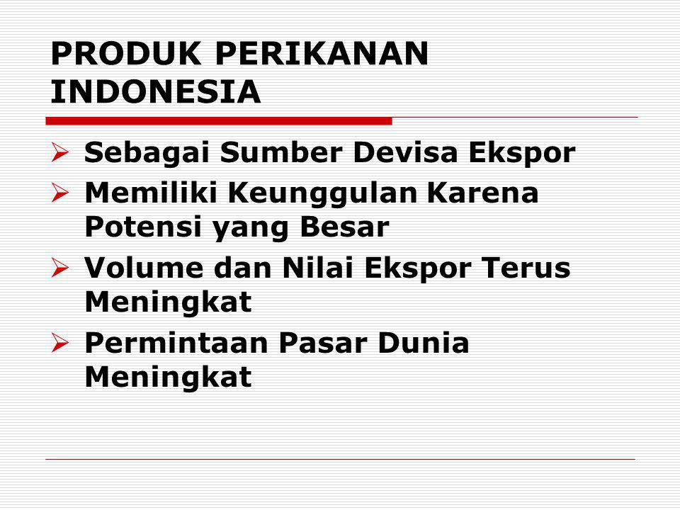 PRODUK PERIKANAN INDONESIA