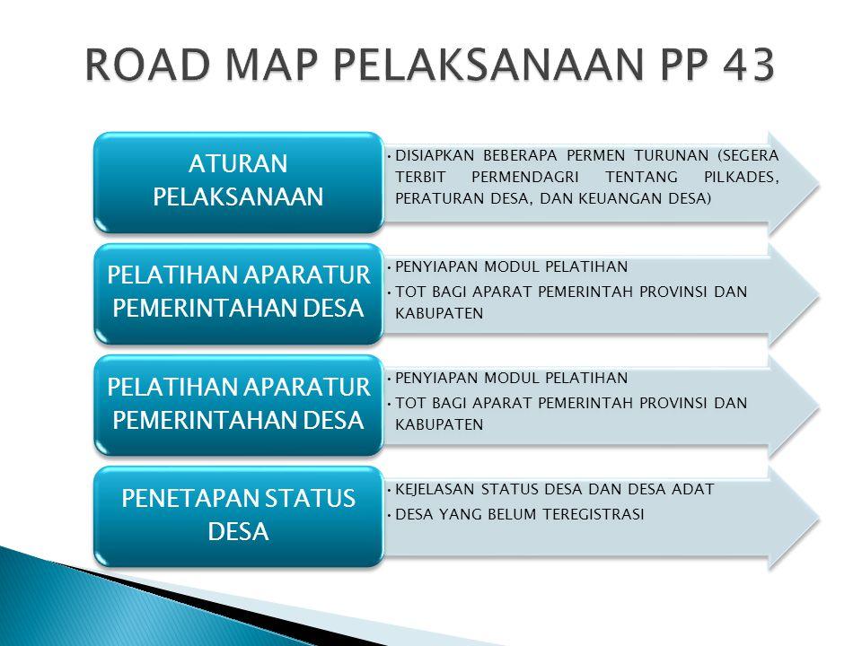 ROAD MAP PELAKSANAAN PP 43