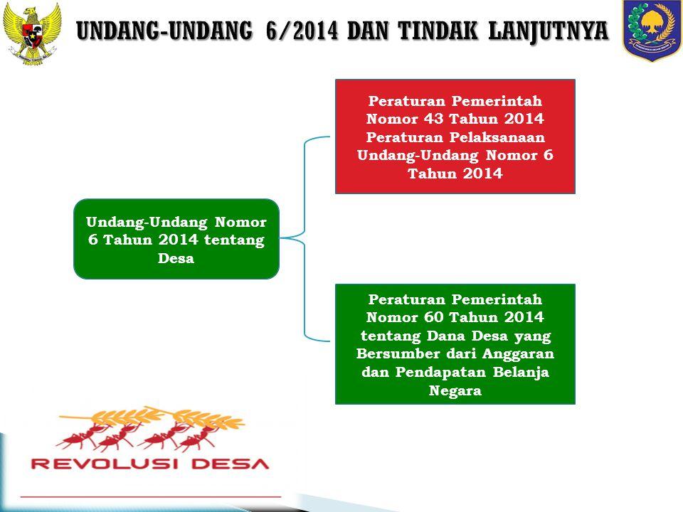 UNDANG-UNDANG 6/2014 DAN TINDAK LANJUTNYA